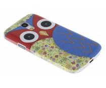 Blauw uil glad hardcase Samsung Galaxy S4 Mini