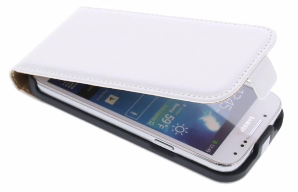 Wit luxe flipcase hoes voor de Samsung Galaxy S4 Mini