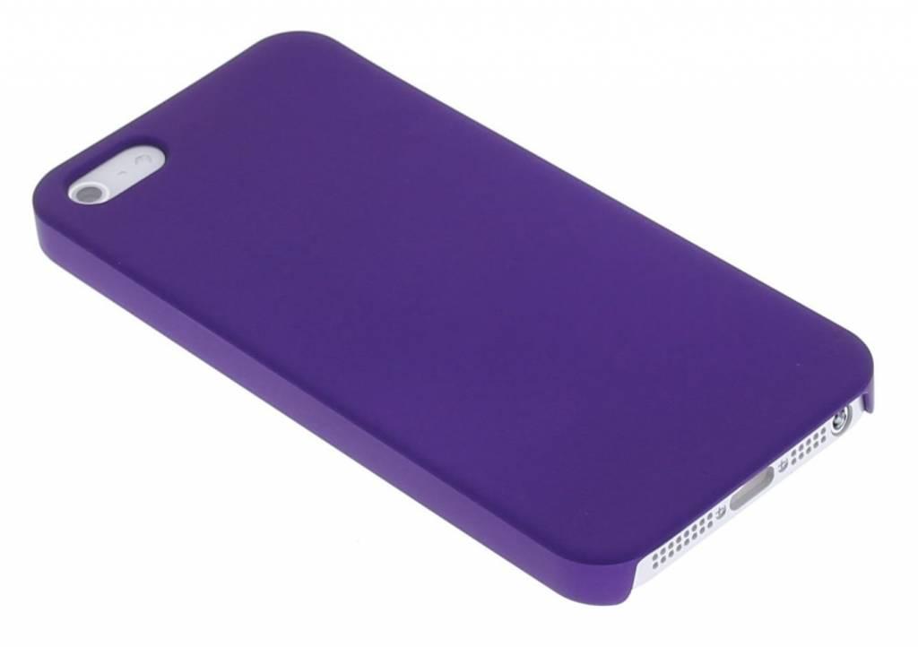 Paars effen dunne hardcase hoesje voor de iPhone 5 / 5s / SE