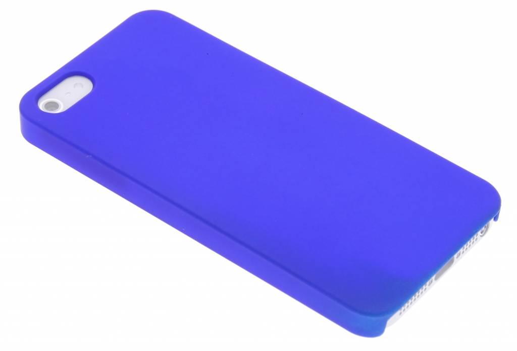 Blauwe effen hardcase hoesje voor iPhone 5 / 5s / SE