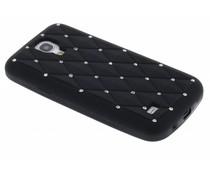 Zwart siliconen hoesje met strass Galaxy S4 Mini