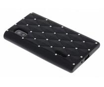 Zwart siliconen hoesje met strass LG Optimus L5