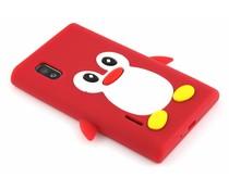 Rood pinguin siliconen hoesje LG Optimus L5