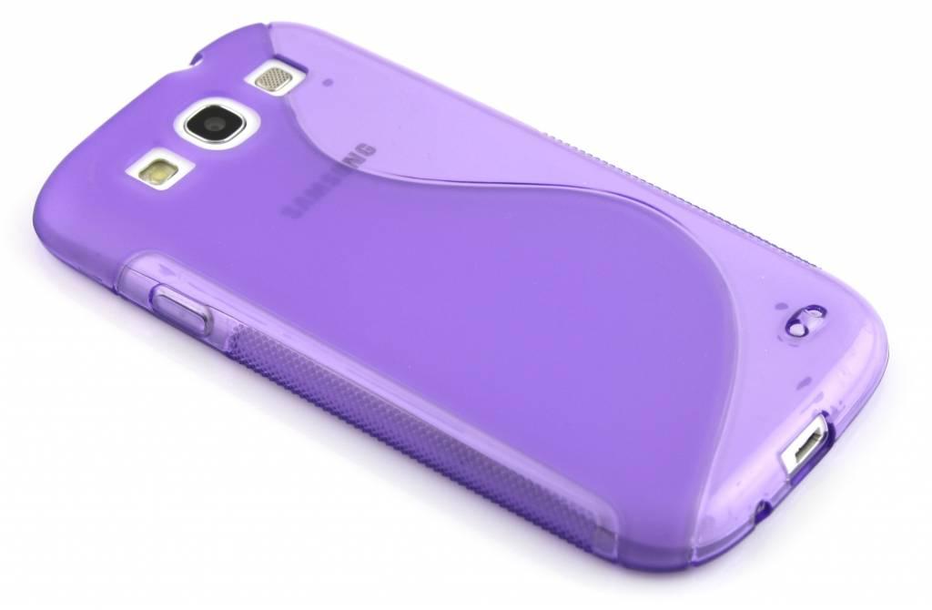 Paars S-line flexibel TPU hoesje voor de Samsung Galaxy S3 / Neo