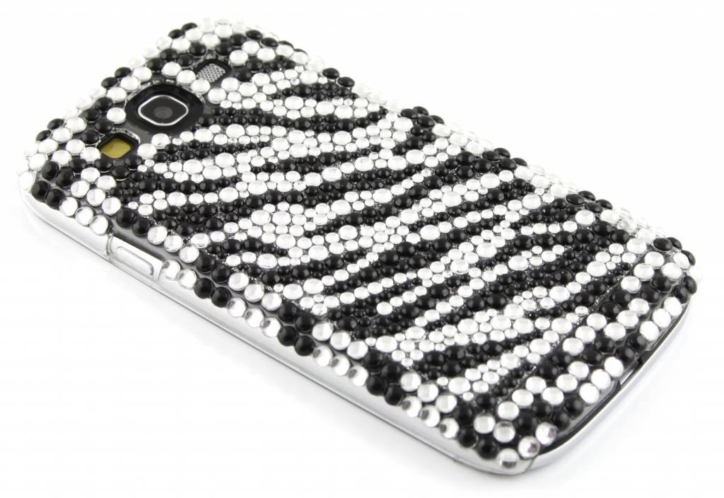 Zebra BlingBling hardcase hoesje met strass steentjes voor de Samsung Galaxy S3 / Neo