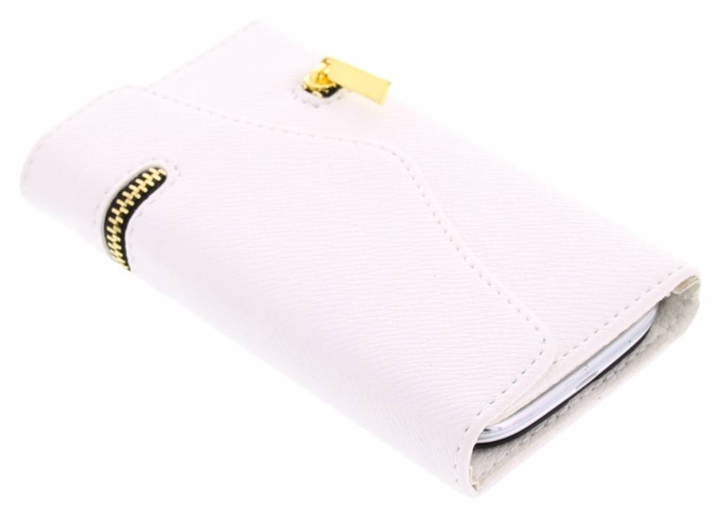 Wit classic portemonnee hoesje voor de Samsung Galaxy S3 / Neo