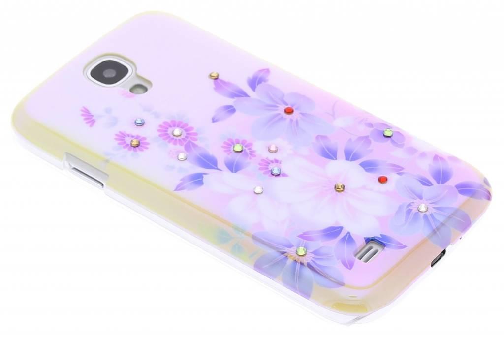 Bloemetjes design spiegelend hardcase hoesje voor de Samsung Galaxy S4
