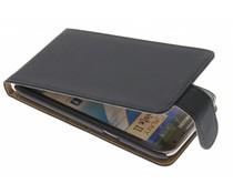 Zwart classic flipcase Galaxy Note 2