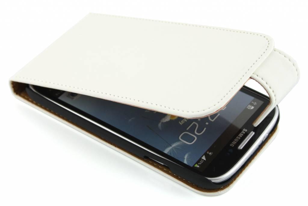 Witte classic flipcase voor Samsung Galaxy s4 i9500