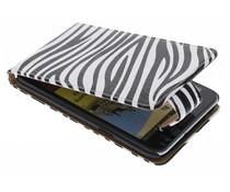 Zebra flipcase Samsung Galaxy Note 2