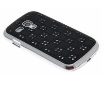 Zwart domino hardcase strass-steentjes Galaxy S3 Mini