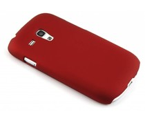 Rood effen hardcase Samsung Galaxy S3 Mini