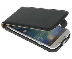 Zwart luxe flipcase Samsung Galaxy S4