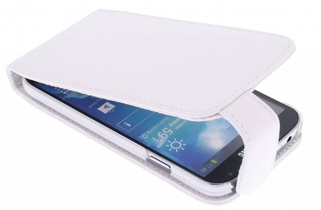 Witte stijlvolle flipcase voor Samsung Galaxy s4 i9500