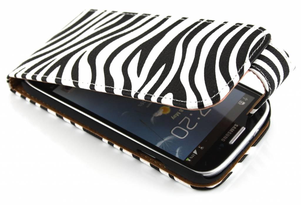 Zebra classic mooie sterke flipcase voor Samsung Galaxy s4 i9500