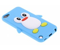 Turquoise pinguin siliconen hoesje iPod Touch 5g / 6