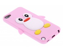 Roze pinguin siliconen hoesje iPod Touch 5g / 6