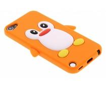 Oranje pinguin siliconen hoesje iPod Touch 5g / 6