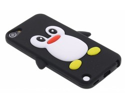 Zwart pinguin siliconen hoesje iPod Touch 5g / 6