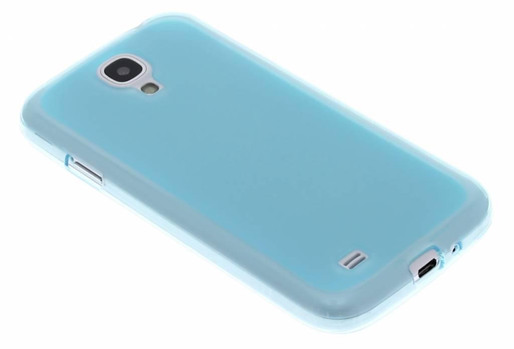Turquoise hard siliconen hoesje voor de Samsung Galaxy S4