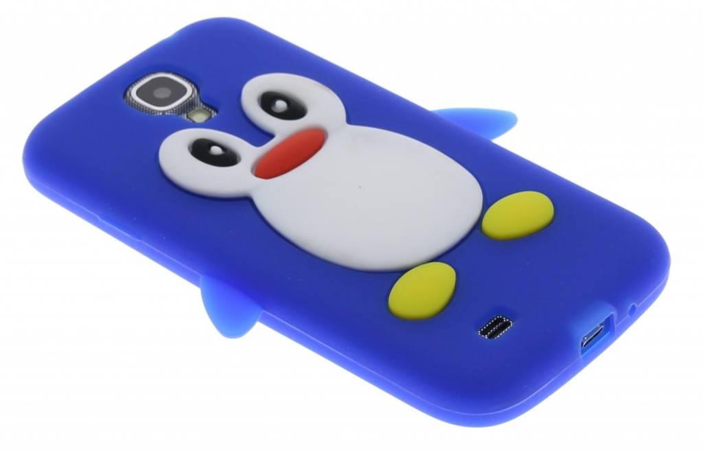 Blauwe pinguin siliconen hoesje voor de Samsung Galaxy S4 i9500