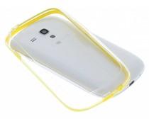 Geel transparante bumper Samsung Galaxy S3 Mini