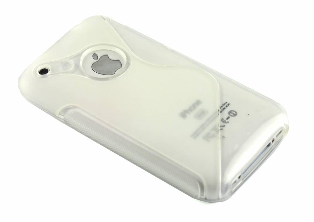 Transparant S-line flexibel TPU hoesje voor iPhone 3gs