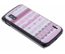 Mat roze design hardcase hoesje LG Nexus 4