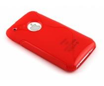 Rood S-line TPU hoesje iPhone 3gs