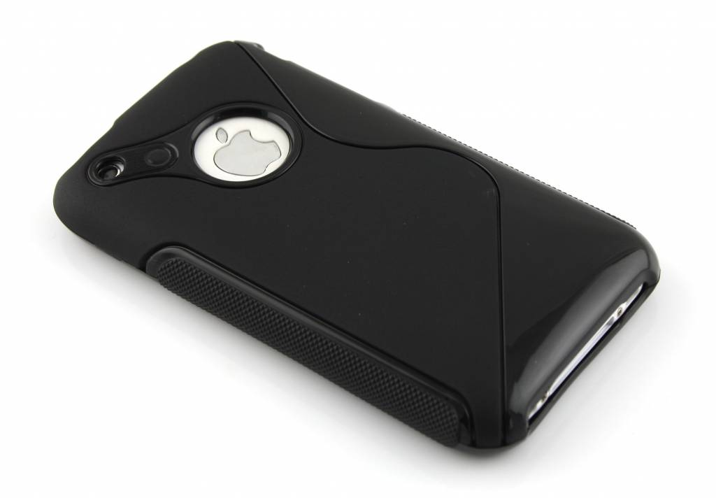 Zwart S-line flexibel TPU hoesje voor iPhone 3gs