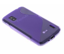 Paars S-line TPU hoesje LG Nexus 4