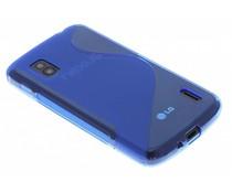 Blauw S-line TPU hoesje LG Nexus 4