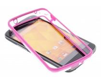 Fuchsia transparante bumper LG Nexus 4