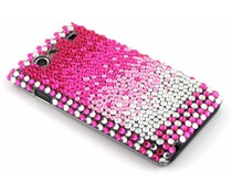 Roze pareltjes BlingBling hardcase hoesje Galaxy S Advance