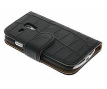 Zwart krokodil booktype hoes Galaxy S3 Mini