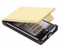 Gouden krokodillen flipcase LG Optimus L5