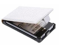 Zilveren krokodillen flipcase LG Optimus L5
