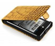 Geel krokodilskin flipcase LG Optimus L5