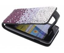 Glazen strass flipcase Samsung Galaxy S Advance