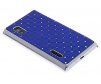 Blauw hardcase hoesje met strass LG Optimus L5