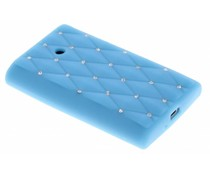 Turquoise siliconen hoesje met strass LG Optimus L3