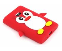 Rood pinguin siliconen hoesje LG Optimus L3