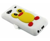 Wit pinguin siliconen hoesje Samsung Galaxy S Advance