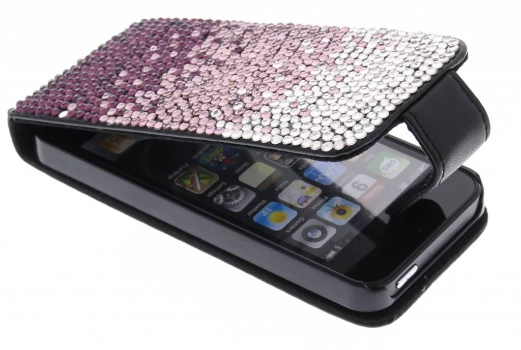 Flipcase met glazen strass-stenen voor de iPhone 5 / 5s / SE