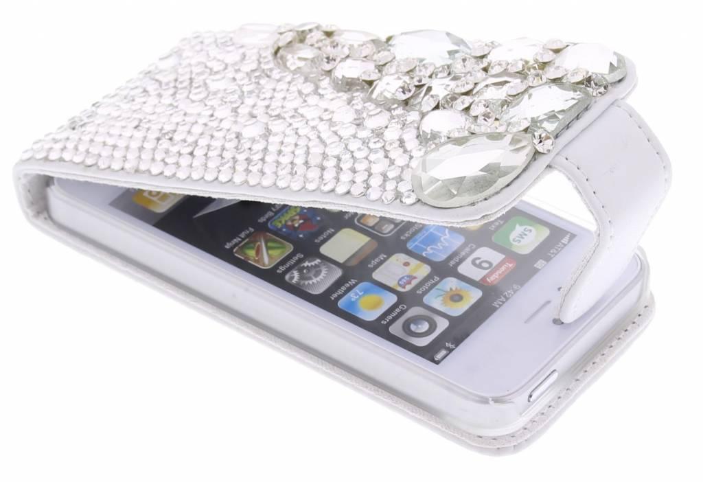 Luxe flipcase met glazen strass-stenen voor de iPhone 5 / 5s / SE