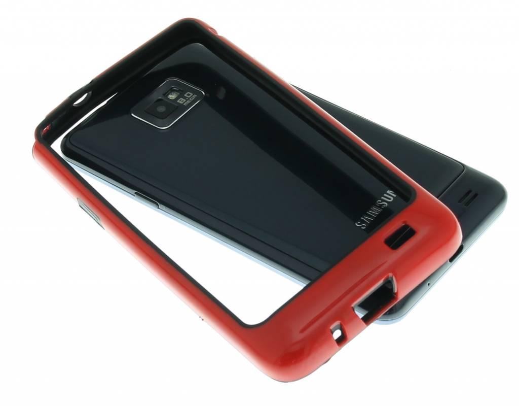 Rood stevige bumper voor Samsung Galaxy S2 (Plus)