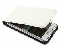 Wit luxe flipcase Samsung Galaxy S2 (Plus)