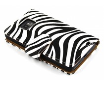 Zebra booktype hoes Samsung Galaxy S2 (Plus)