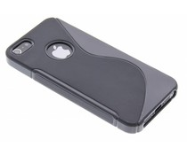 Zwart S-line TPU siliconen hoesje iPhone 5 / 5s / SE