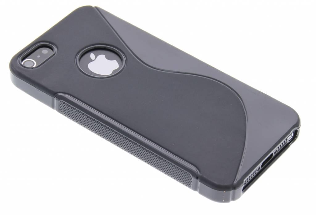 Zwart S-line TPU siliconen hoesje voor de iPhone 5 / 5s / SE